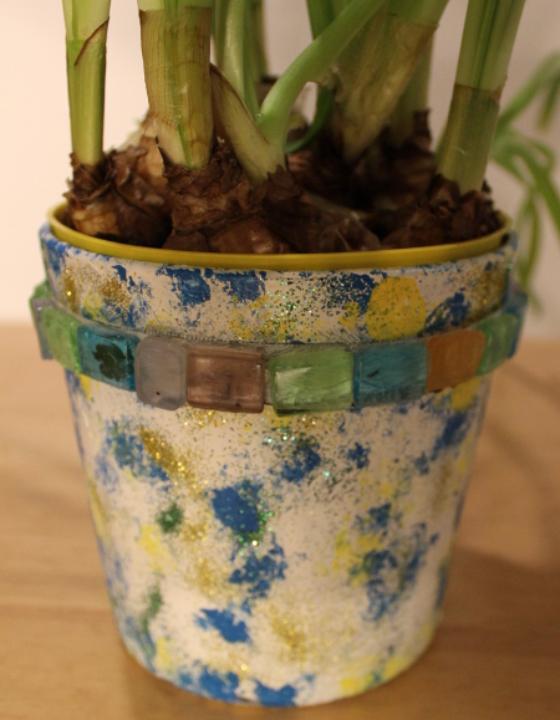 DIY: Windlicht wird zu Blumentopf