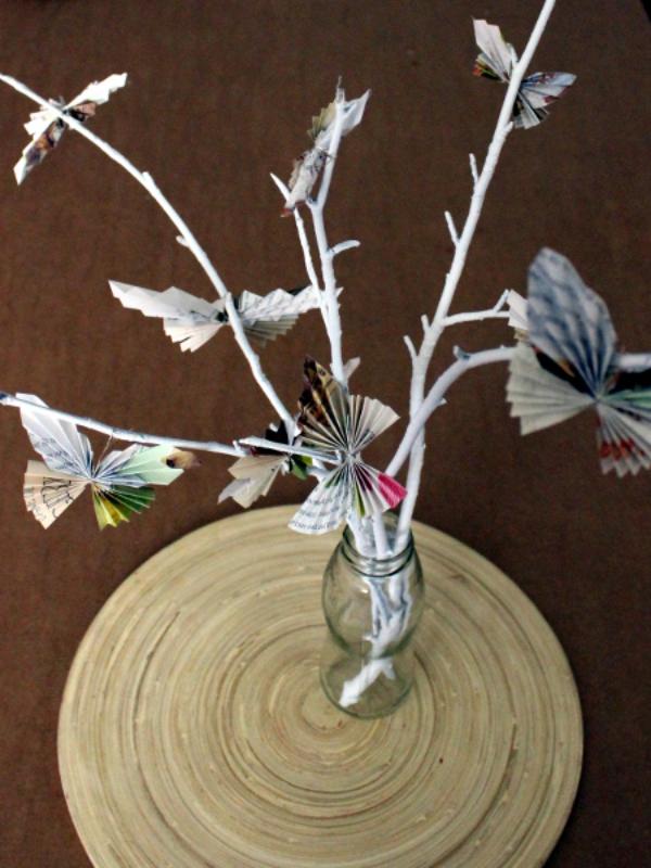 DIY: Zarte Schmetterlinge aus Papier basteln