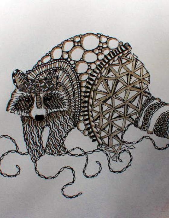 Zentangle, meditatives Gekritzel
