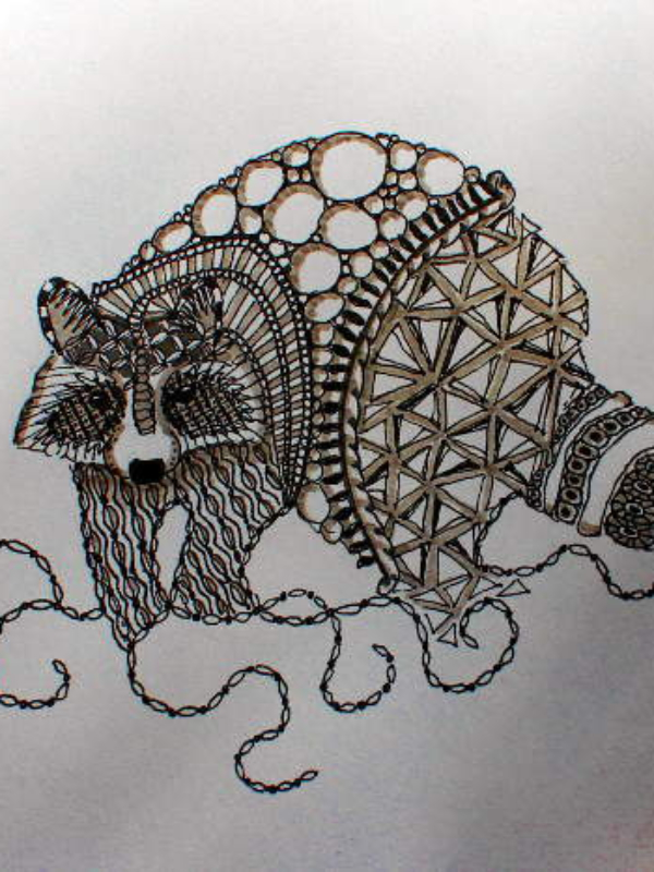 Zentangle, meditatives Gekritzel