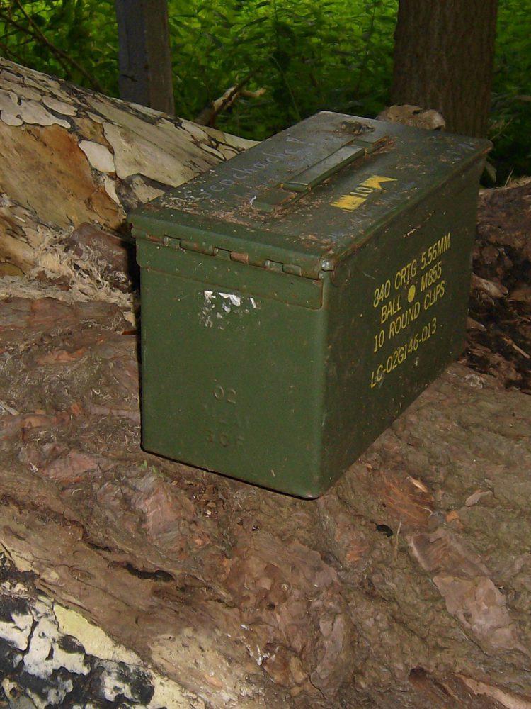Eine Munibox als Ziel für das Geocaching