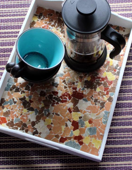 Mosaike aus Eierschalen