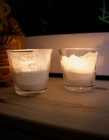 Ein Licht aus Salz